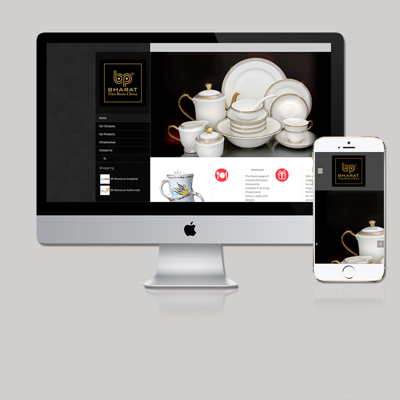 Website for Tableware Brand by MTLB