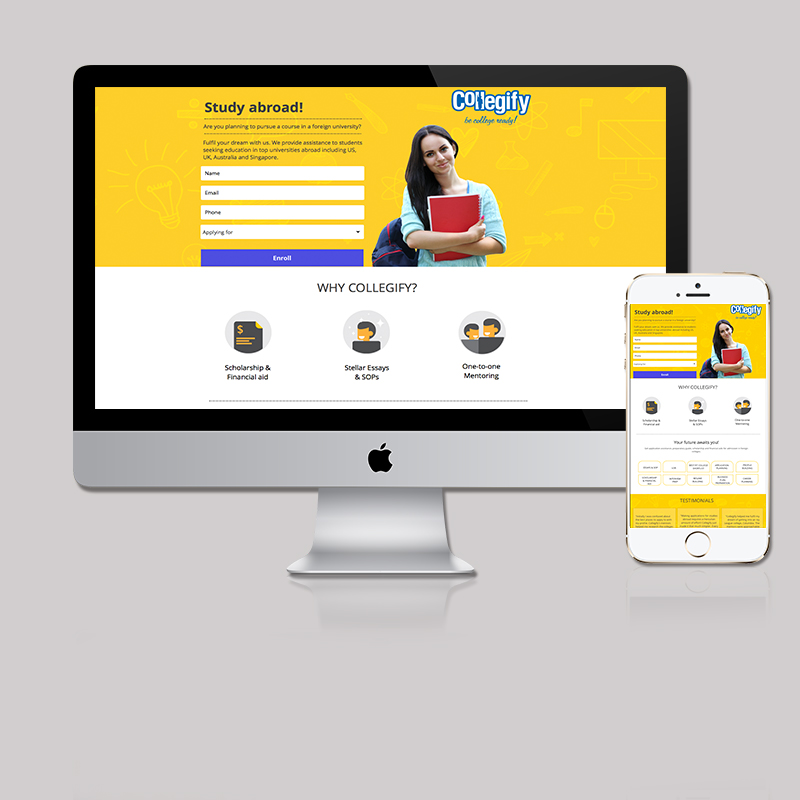 Landing Page for Education Consultant by MTLB