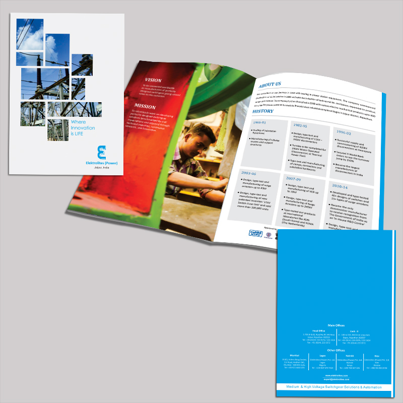Brochure for Electrical Equipment Brand by MTLB