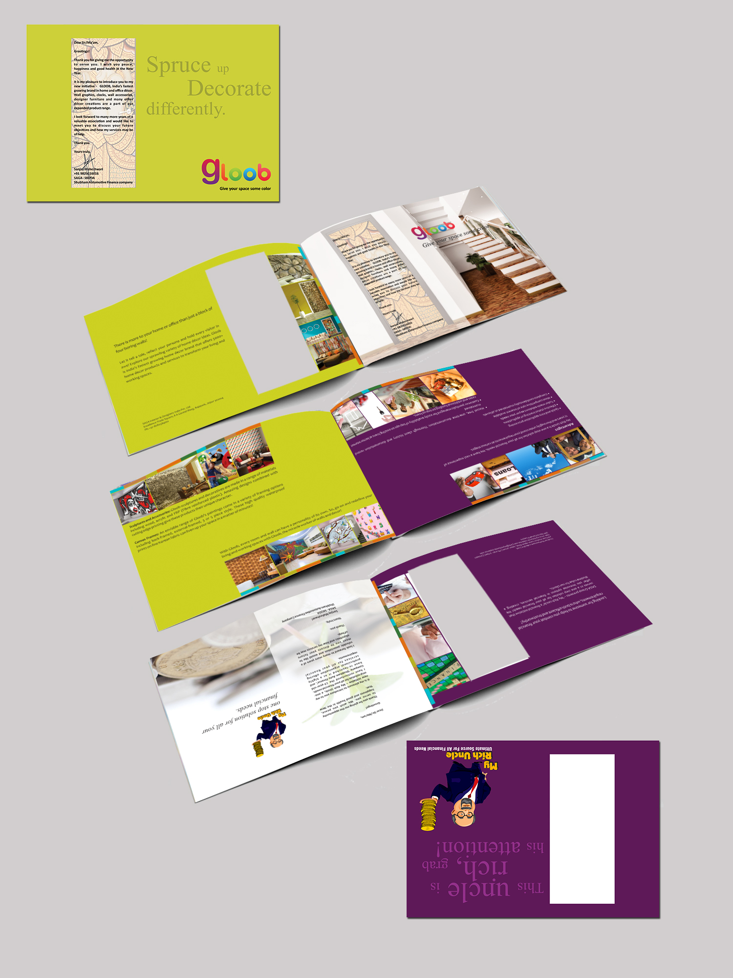 Combined brochure for Interior & Finance company by MTLB